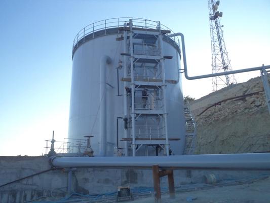 Transferring salty oil of Gachsaran No.1 to desalting unit of Gachsaran No. 2